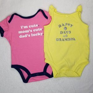 Carter's | Baby Girl Summer Graphic Bodysuits Set